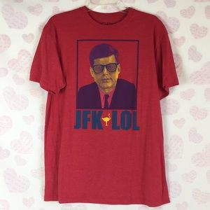 Chive Tees Red JFK LOL Shirt Size Large